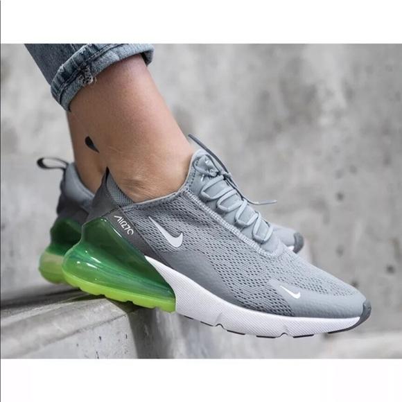 Women's Nike Air Max 270 Lime Blast Sneakers NWT